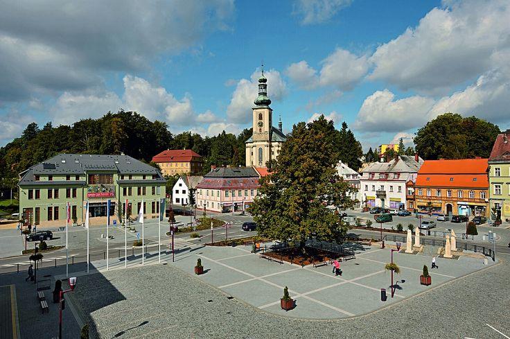 Křinické náměstí in Krásná Lípa, Ústecký
