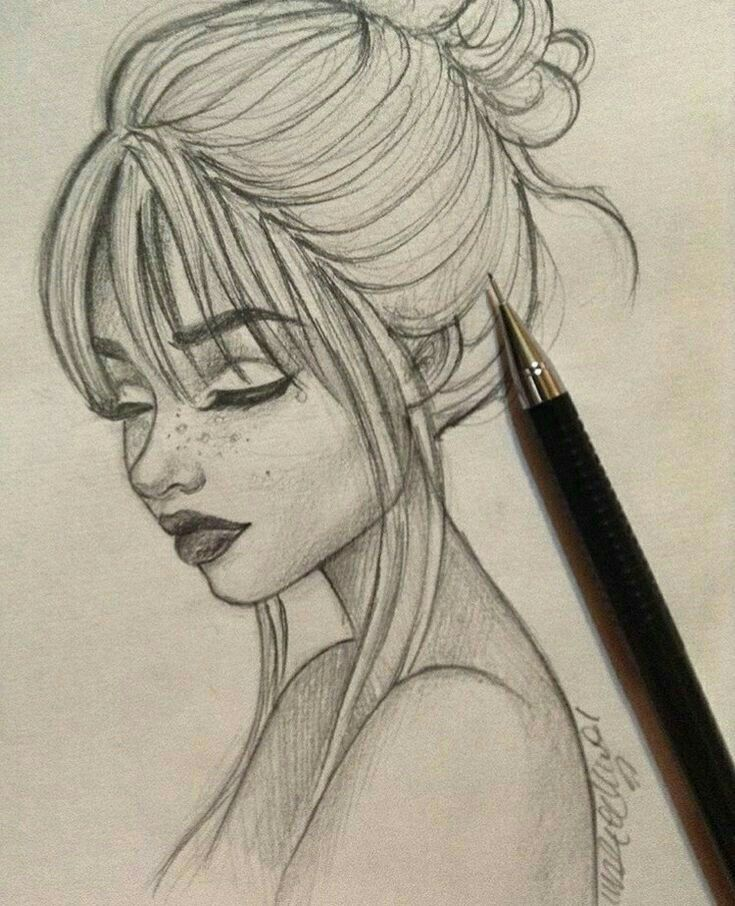 Dibujos Hermosos Art Drawings Sketches Creative Art Drawings Sketches Simple Girl Drawing Sketches