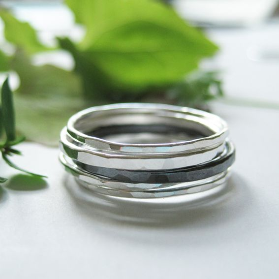 My silver jewellery collection Ilma-rings.