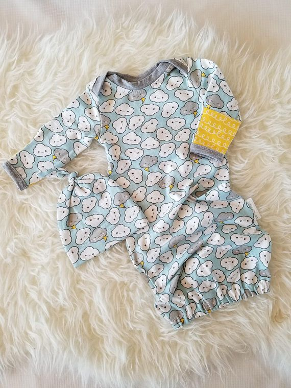 Clouds sleep sack - Newborn gender neutral baby gown - Infant baby ... 5e78f92fd