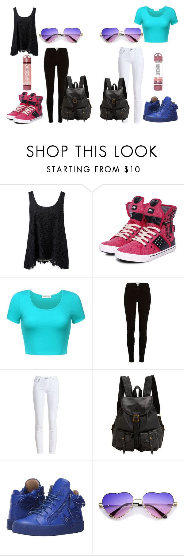 """""""Camp Besties"""" by lollipopwhiskers on Polyvore featuring Forever New, Pastry, River Island, Barbour, Jas M.B., Giuseppe Zanotti, Victoria's Secret, Summer, cute and camp"""