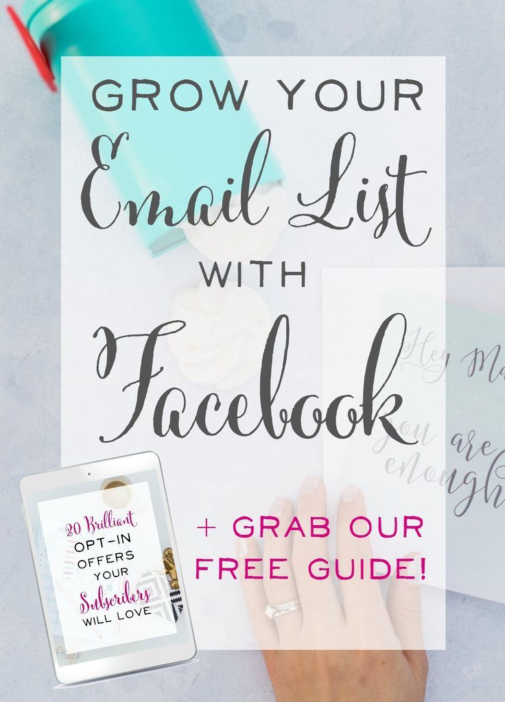 Wow - this technique is so easy and fast! How to grow your email list with Facebook. How to get email subscribers, list building, how to grow an email list, social media marketing.