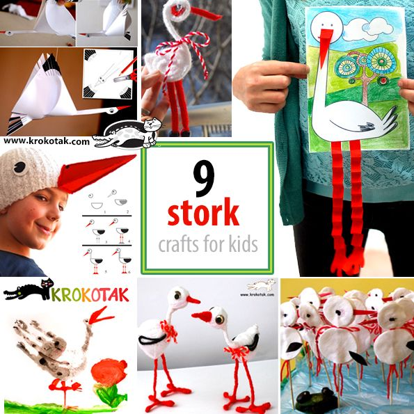 9 stork crafts for kids