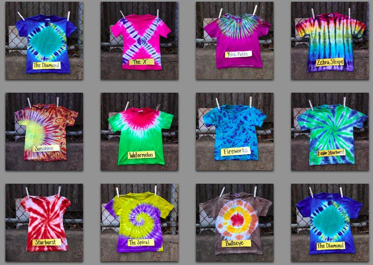 What tie-dye technique will you use this summer?