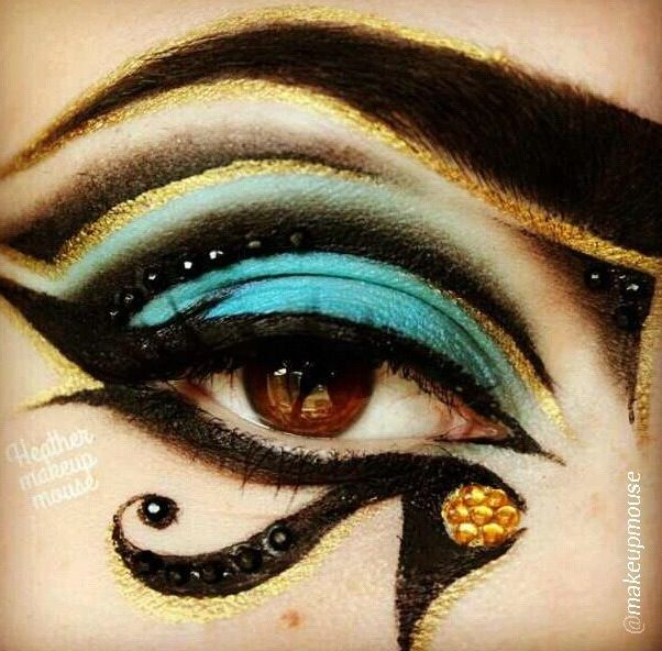 Egyptian eye | Makeup | Pinterest