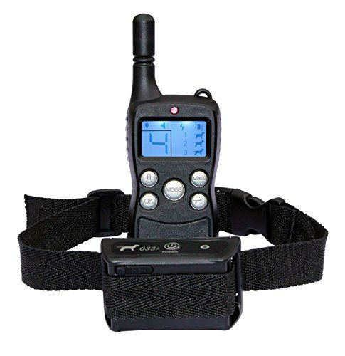 Hot Spot® Wireless Rechargeable LCD Remote Digital Dog Training Shock and Bark Collar 100% Waterproof with 900 Feet Range (Newest Model Training Collar)
