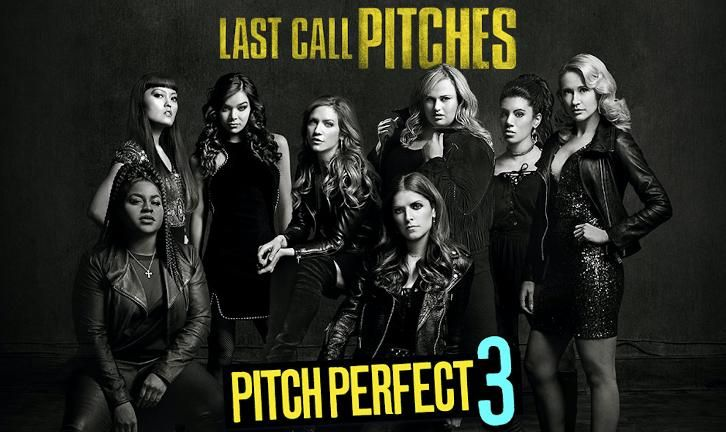 Pitch Perfect 3(2017) | 1h 33min|Comedy,Music |  Director: Trish Sie  Writers: Kay Cannon(screenplay by),Mike White(screenplay by) Stars: Anna Kendrick,Rebel Wilson,Brittany Snow Synopsis: Following their win at the world championship, the now separated Bellas reunite for one last singing competition at an overseas USO tour, but face a group who uses both instruments and voices.   #720p #Comedy #English #Movie #Music
