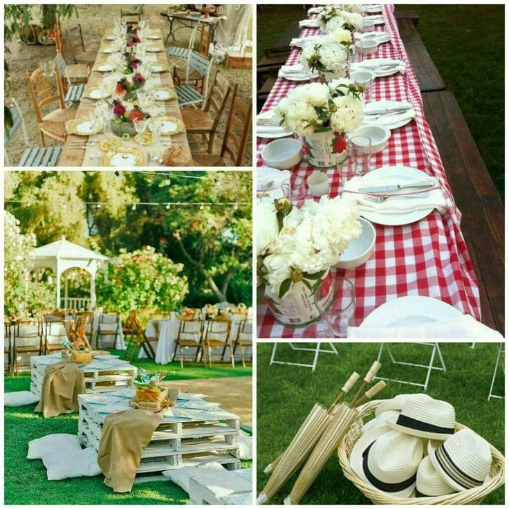 ... di moda ricevimenti all'aperto, informali come un picnic ma curati nei minimi dettagli come un ricevimento di nozze richiede. #weddingpicnic #nozze #matrimonio #weddingplanner #sposi #ricevimento