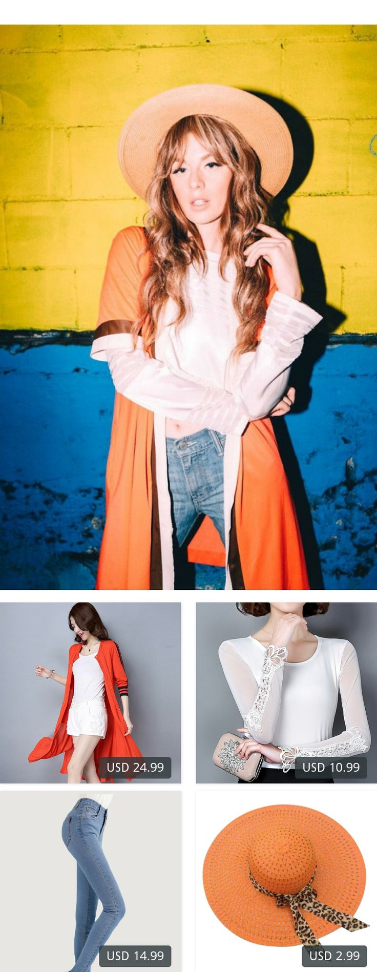 This is Ms. Morgan Ryan's buyer show in OurMall;  1.Coat Three Quarter Sleeves Black Orange Blue Long Cardigan Sweater  2.Top Tees Women T-shirt 2017 Long Sleeve Black/White Women Shirt Female Clothing Women t Shirt 3.Women Skinny Pencil Jeans Denim Elastic High Waist Pants Wash... please click the picture for detail. http://ourmall.com/?raaAVf