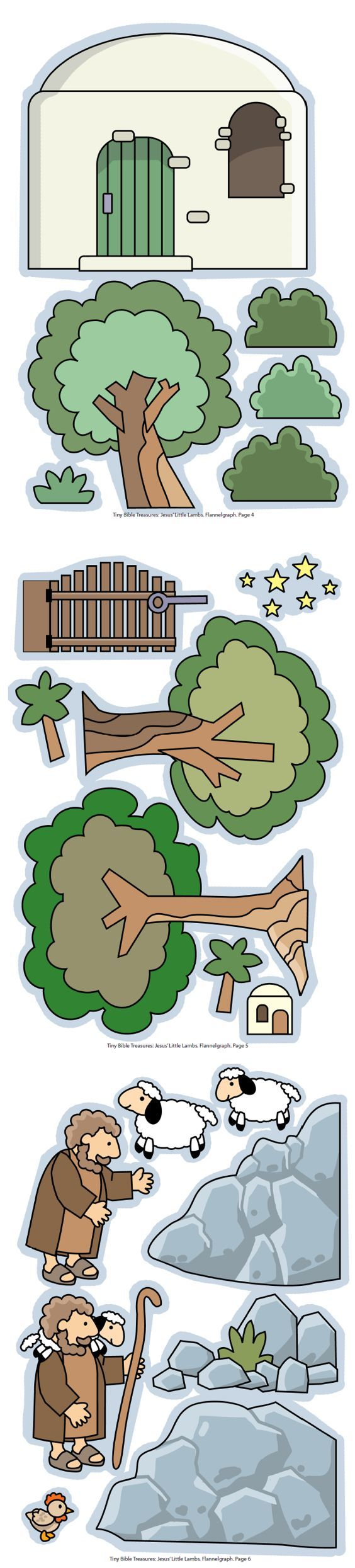 De Goede Herder, flanelplaten voor kleuters, kleuteridee.nl , The Good Shepherd, Flannel Bible Sheets, free printable 2.  I like this for drawing in my journaling Bible.  Nice examples of trees, house, sheep, and shepherd for Bible illustrations.