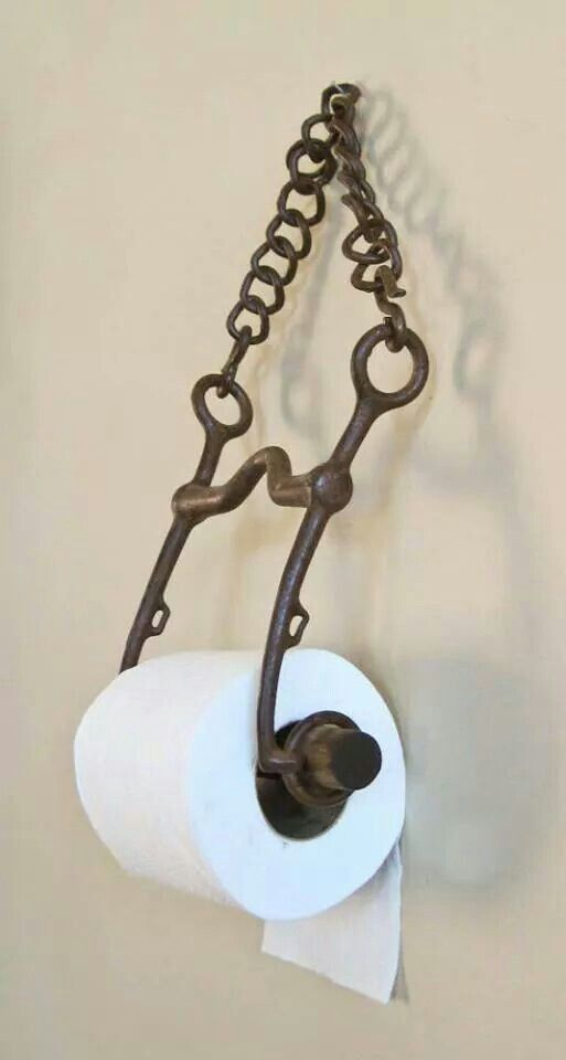 If you can get your hands on a horse bit, this is a nifty bathroom idea indeed!
