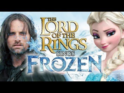 """The Lord of the Rings sings Frozen """"Let it Go"""" Parody. Morgan, you simply must see this--all the way to the end."""