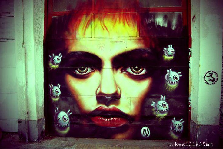 Graffiti in Athens by Tolis Kesidhs