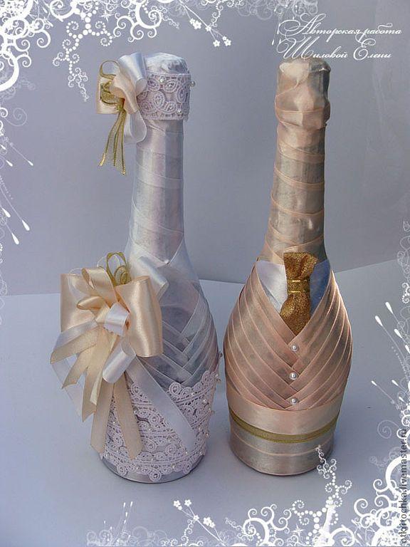 Бокалы сделанные на свадьбу