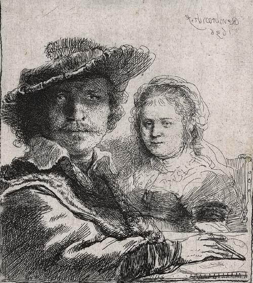 zelfportret met Saskia. Rembrandt van Rijn