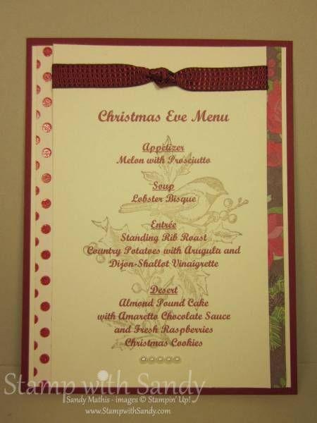 29 best images about christmas menus on pinterest bristol breakfast menu and christmas eve - Christmas menu pinterest ...