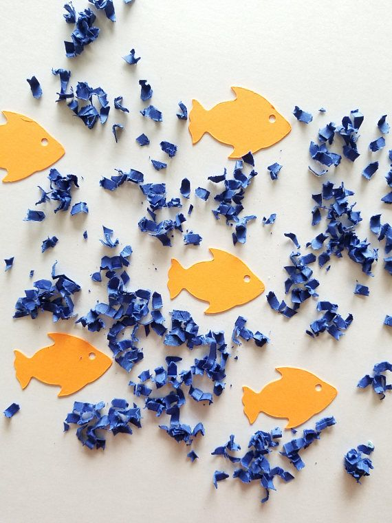 Underwater Goldfish Table Confetti Matte Under The Sea.  Fishing Party Theme. Dr. Seuss One Fish Two Fish Red Fish Blue Fish. Dr. Seuss Party. Camping Party. 58 Color Options.