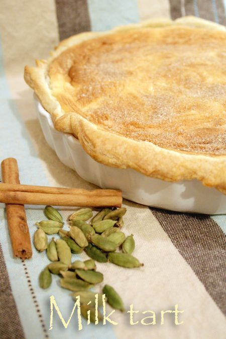 South African Milk Tart #recipe (puff pastry crust) - cooksister.com