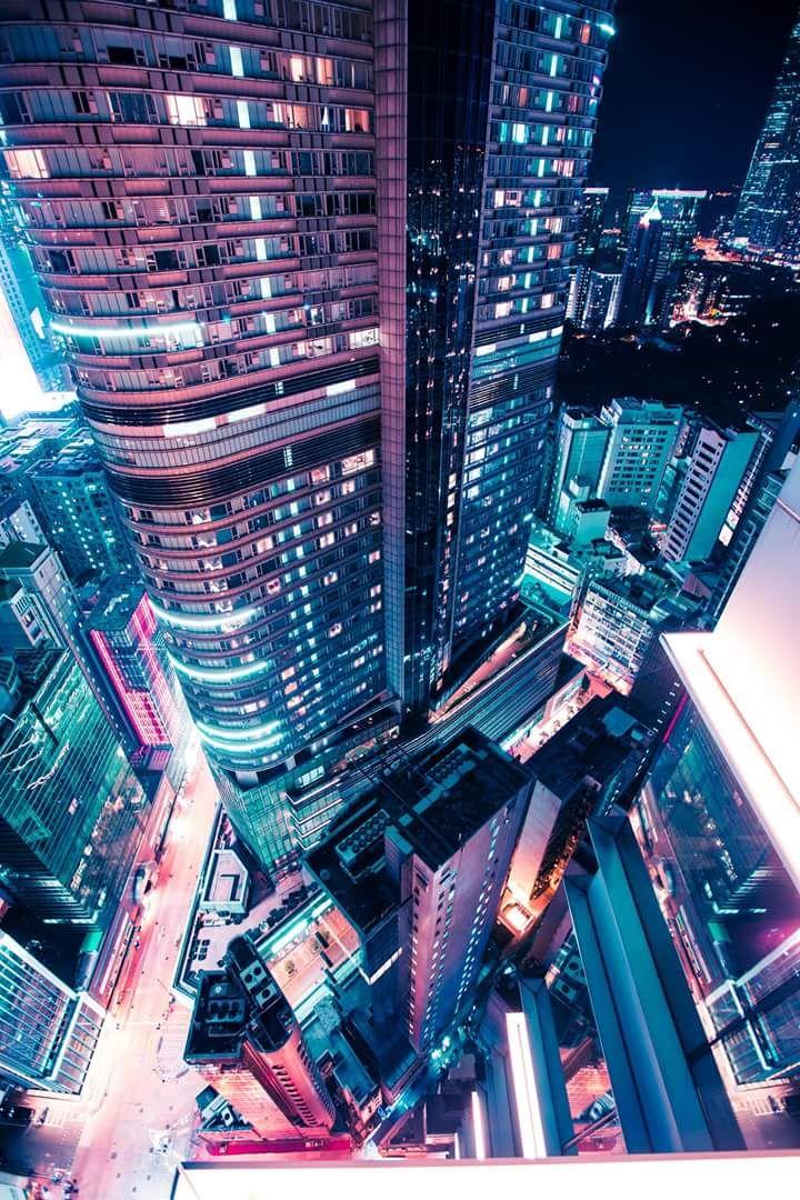 Neon Aesthetic Background Landscape