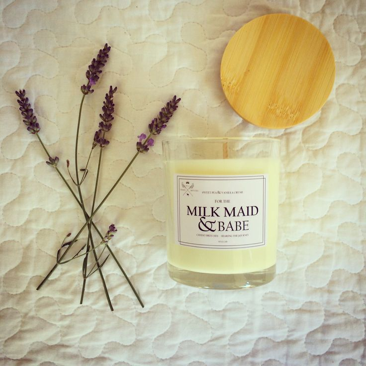 breastfeeding soy candles to help nurture the bond of feed times