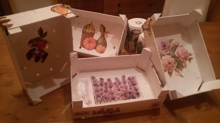 dřevotřískové krabičky od zeleniny