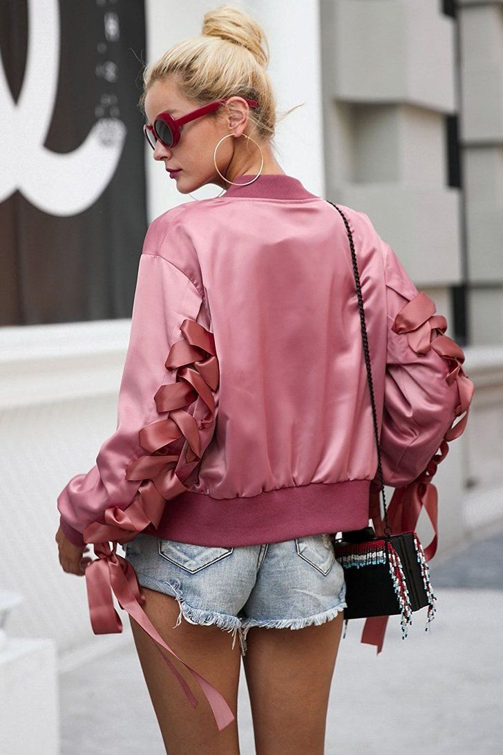 Hello Spring These 11 Stylish Bomber Jackets Are What You Need All Under 32 On Amazon Bomber Jacket Women Coats Jackets Women Stylish Bomber Jacket [ 1093 x 728 Pixel ]