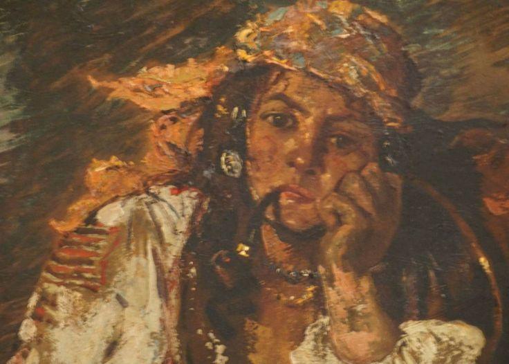 """""""Țigancă cu lulea"""" (1918) - Octav Băncilă"""