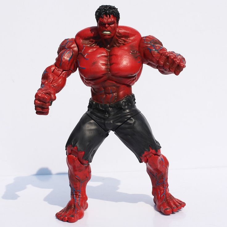 1piece The Avengers Red Hulk PVC Action Figure Toy Hands Adjusted Movie Lovers Collection Model Toys Retail Free Shipping