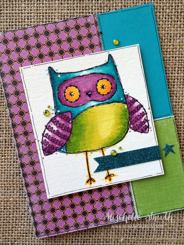 http://www.mischellesmith.com/blog/150-what-a-hoot-twin-touch-tuesday-on-wednesday, close to my heart, ctmh, what a hoot som, alcohol markers, owl, originals, cards