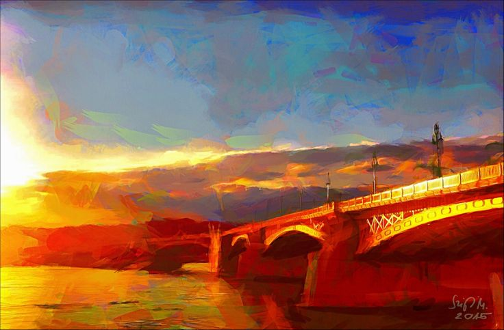 Check out Golden Margaret Bridge in Budapest by Miklós Szigeti at eagalart.com