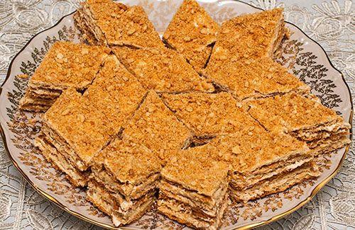 Песочный пирог с кремом