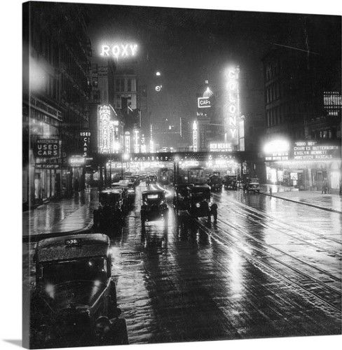 94 Best Images About 1920s Foursquare On Pinterest: Premium Thick-Wrap Canvas Wall Art Print Entitled NY
