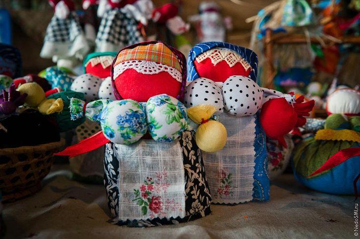 Традиционные русские куклы.
