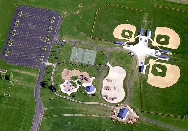 Ball Field Complex [Coogan park] A sports complex with softball fields and  baseball fields located in Plainfield, IL.  Design was completed in October of 2009.