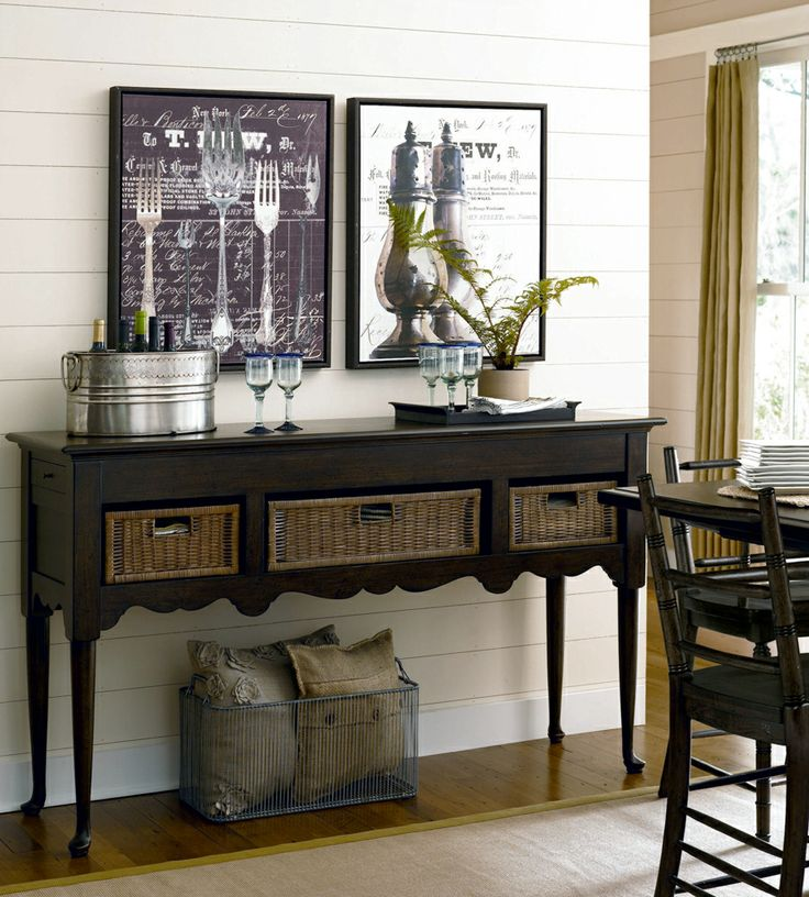 universal furniture paula deen home sideboard with baskets in molasses available at