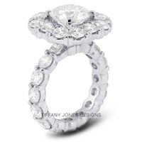11.10 ct E-VS2 Exc Round Natural Diamond 14k Gold 4-Prong Engagement Ring 4.15mm | 60% OFF