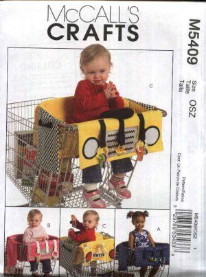 McCall's Sewing Pattern 5409 Baby Infant Child Grocery Shopping Cart Trolley Liner