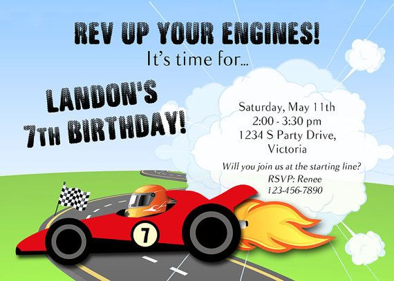 Best Race Cars Hot Wheels Nascar Parties Images On - Homemade hot wheels birthday invitations