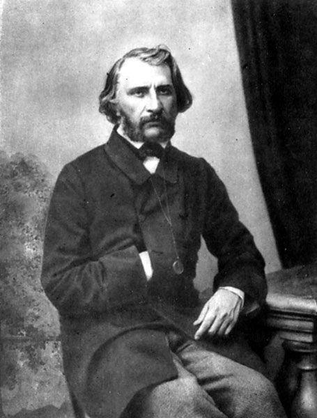 И. С. Тургенев. Фотография А. Бергнера, 1856 г.