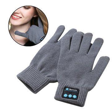 Chaude usb chargeant microphone écouteur bluetooth détachable écran tactile gants tricotés