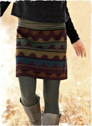 Pima Cotton Tribal Miniskirt
