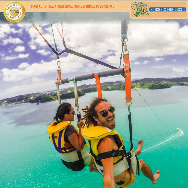 #Parasailing in Maui is for everyone - young & old, alike. No experience required. For more details http://mauiticketsforless.com/maui-parasailing#.V_8_wvRrLIU