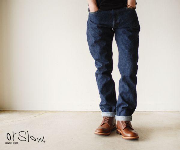 【楽天市場】ブランド別> 【O】> orslow*オアスロウ> ivy fit jeans/オリジナル セルヴィッチデニム:Crouka LR(クローカ エルアール)