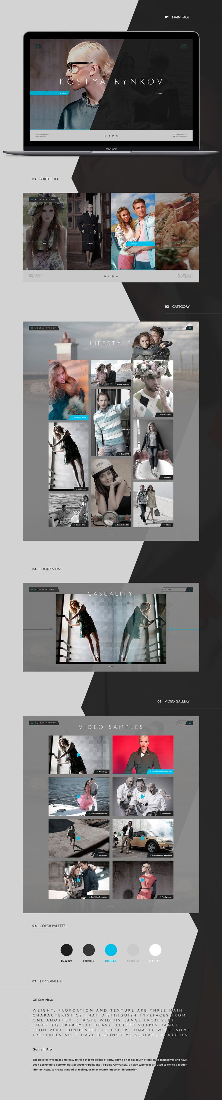 Webdesign for the photographer. Thanks for your appreciation.