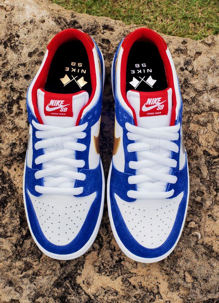 "Nike SB Dunk Low Pro Ishod Wair QS ""Blue, Red & Metallic"" - EU Kicks: Sneaker Magazine"