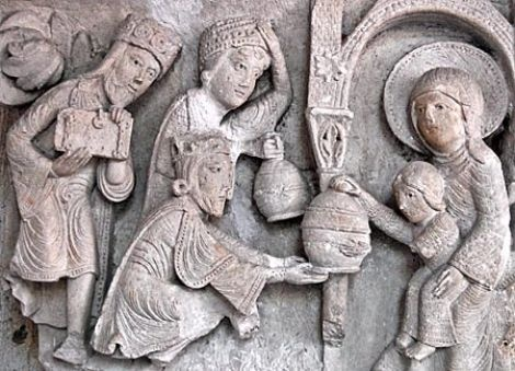 Visit of the Magi, Capital, Durham Cathedral, Durham, England, c. 1093.