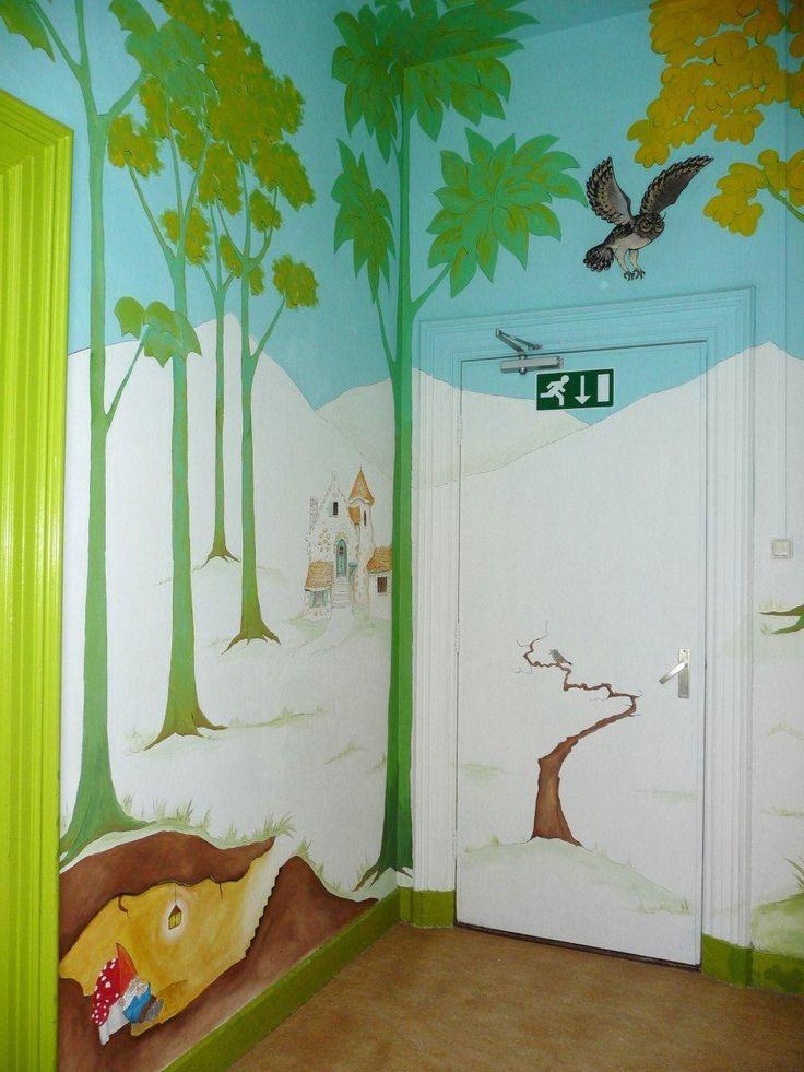 Sprookjes - de nachtegaal - kabouters | muurschildering | kinderdagverblijf BSO | www.groeneballon.nl | Den Haag