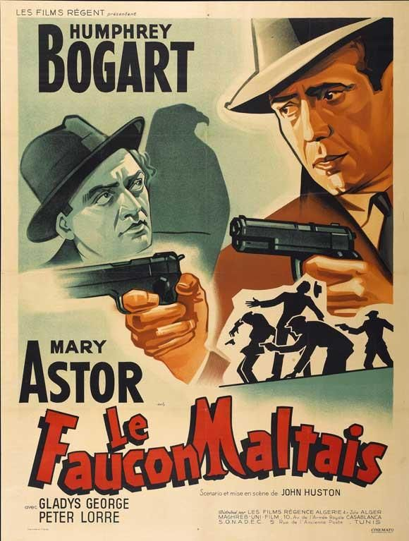 The Maltese Falcon French 27x40 Movie Poster 1941 In 2020 Movie Posters Vintage Classic Films Posters Classic Movie Posters