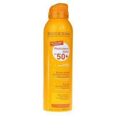 BIODERMA – Photoderm Max – Brume Solaire SPF50+: Bioderma Brume solairetrès haute protectionSPF50+ qui s'applique sans étalement,…