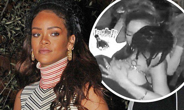Rihanna and Travis Scott seen kissing at Paris nightclub